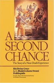 Cover of: A second chance by A. C. Bhaktivedanta Swami Prabhupāda
