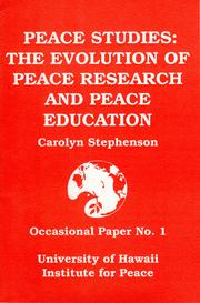 Cover of: Peace studies by Carolyn M. Stephenson