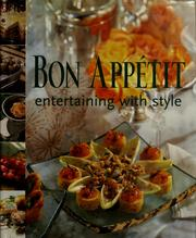 Cover of: Bon appétit entertaining with style by
