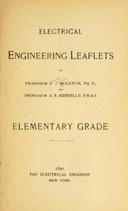Cover of: Electrical engineering leaflets | Edwin J. Houston