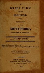 Cover of: A brief view of the figures, and explication of the metaphors, contained in Scripture by Brown, John