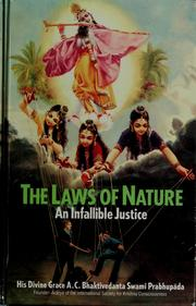 Cover of: The laws of nature by A. C. Bhaktivedanta Swami Prabhupāda