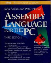 Cover of: Assembly language for the PC by John Socha