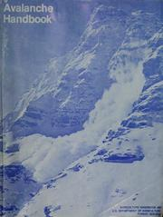 Cover of: Avalanche handbook | Ronald I. Perla