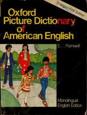Cover of: Oxford picture dictionary of American English by E. C. Parnwell