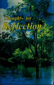 Cover of: Thoughts for reflection | Albert J. Nimeth