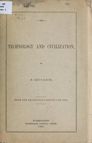 Cover of: Technology and civilization | Franz Reuleaux