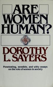 Cover of: Are women human? by Dorothy L. Sayers