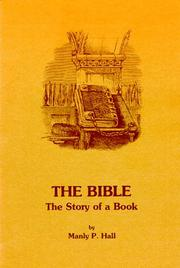 Cover of: The Bible | Manly Palmer Hall