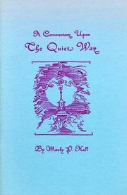 Cover of: A commentary upon The quiet way by Manly Palmer Hall