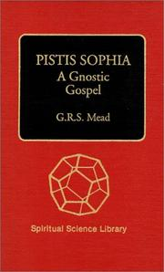 Cover of: Pistis Sophia by G. R. S. Mead