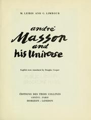 Cover of: André Masson and his universe | Leiris, Michel