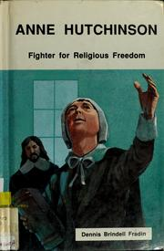Cover of: Anne Hutchinson by Dennis B. Fradin