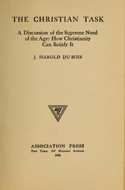 Cover of: The Christian task | John Harold Du Bois