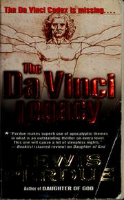 Cover of: The Da Vinci legacy by Lewis Perdue