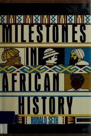 Cover of: Milestones in African history | Ronald Seth