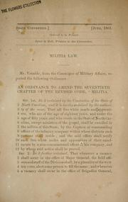 Cover of: Militia law | North Carolina. Convention Committee on Military Affairs