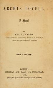 Cover of: Archie Lovell by Annie Edwards