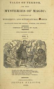 Cover of: Tales of terror; or, The mysteries of magic by St. Clair, Henry