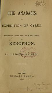 Cover of: Anabasis by Xenophon