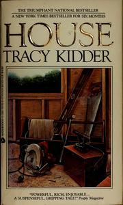 Cover of: House by Tracy Kidder