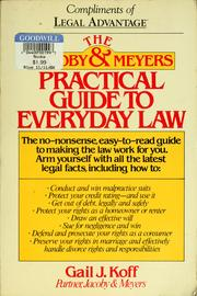 Cover of: The Jacoby & Meyers practical guide to everyday law | Gail J. Koff