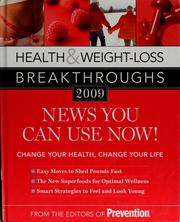 Cover of: Health & weight-loss breakthroughs 2009 | Prevention (Firm : Emmaus, Pa.)