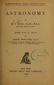 Cover of: Astronomy | Ball, R[obert] S[tawell] Sir