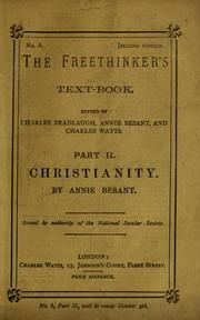 Cover of: Christianity | Annie Wood Besant