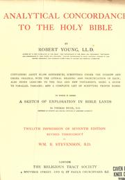 Cover of: Analytical concordance to the Holy Bible by Young, Robert