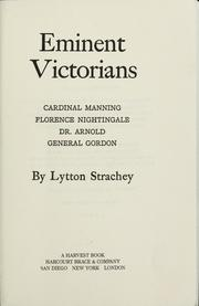 Cover of: Eminent Victorians by Lytton Strachey