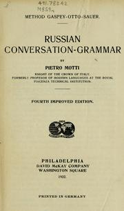 Cover of: Russian conversation-grammar | Pietro Motti