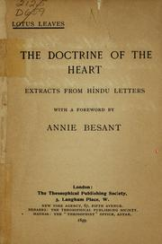 Cover of: The Doctrine of the heart |