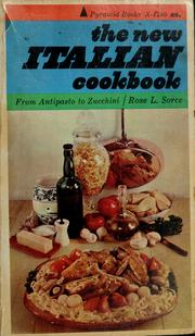 Cover of: The new Italian cookbook | Rose L. Sorce