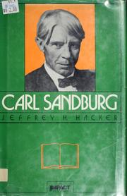Cover of: Carl Sandburg | Jeffrey H. Hacker