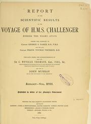 Cover of: Report on the Isopoda collected by H. M. S. Challenger during the years 1873-76 |