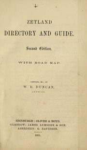 Cover of: Zetland directory and guide. With road map | Directories. - Shetland
