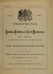 Cover of: Prospectus of the Yorkshire Exhibition of Arts & Manufactures at Leeds by