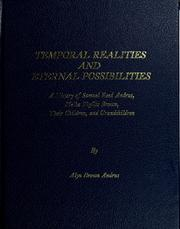 Cover of: Temporal realities and eternal possibilities | Alyn Brown Andrus