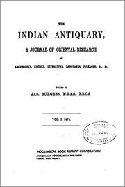 Cover of: The Indian Antiquary | James Burgess, Richard Carnac Temple, John Faithfull Fleet, Royal Anthropological Institute of Great Britain and Ireland., Stephen Meredyth Edwardes, Charles Evelyn Arbuthnot William Oldham