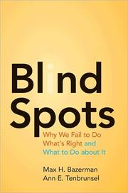 Cover of: BLIND SPOTS |