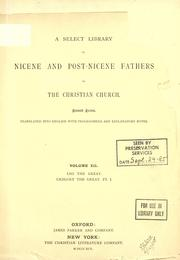 Cover of: Nicene and post-Nicene Fathers of the Christian Church, Volume XII |