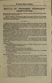 Cover of: Sketch of proposed permanent constitution | R. B. Litchfield