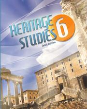 Cover of: Heritage Studies 6 | Peggy S. Alier