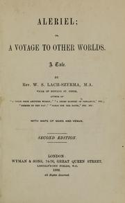 Cover of: Aleriel, or, A voyage to other worlds | Lach-Szyrma, W. S.