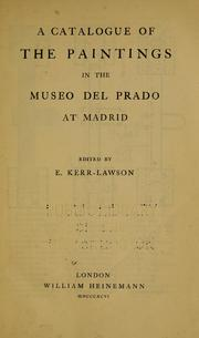 Cover of: A catalogue of the paintings in the Museo del Prado at Madrid by Museo del Prado.