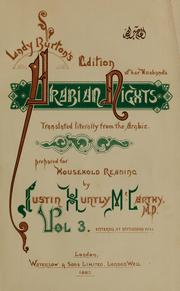 Cover of: Lady Burton's edition of her husband's Arabian nights |