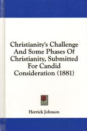 Cover of: Christianity's Challenge | Herrick Johnson