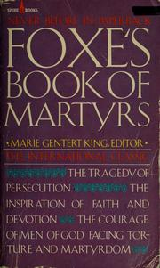 Cover of: Foxe's Book of martyrs | John Foxe