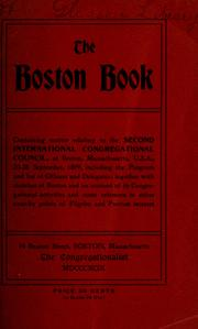 Cover of: The Boston book | International Congregational Council. Assembly